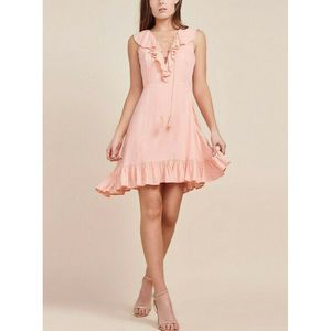 JACK BB DAKOTA Helen Dobby Coral Ruffle Dress